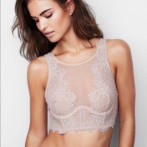 Victoria's Secret Floral Apliqué Long Line Bra